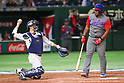(L to R) <br /> Seiji Kobayashi (JPN), <br /> Alfredo Despaigne (CUB), <br /> MARCH 14, 2017 - WBC : <br /> 2017 World Baseball Classic <br /> Second Round Pool E Game <br /> between Japan 8-5 Cuba <br /> at Tokyo Dome in Tokyo, Japan. <br /> (Photo by YUTAKA/AFLO SPORT)
