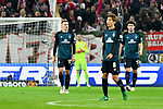 04.11.2018, Opel-Arena, Mainz, GER, 1 FBL, 1. FSV Mainz 05 vs SV Werder Bremen, <br /> <br /> DFL REGULATIONS PROHIBIT ANY USE OF PHOTOGRAPHS AS IMAGE SEQUENCES AND/OR QUASI-VIDEO.<br /> <br /> im Bild: Frust bei Maximilian Eggestein (#35, SV Werder Bremen), Milos Veljkovic (SV Werder Bremen #13) und Yuya Osako (#8, SV Werder Bremen) nach dem Mainzer Tor zum 2:0<br /> <br /> Foto © nordphoto / Fabisch