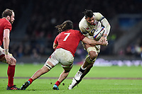 Courtney Lawes of England is tackled by Josh Navidi of Wales. Natwest 6 Nations match between England and Wales on February 10, 2018 at Twickenham Stadium in London, England. Photo by: Patrick Khachfe / Onside Images