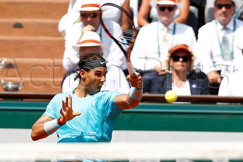 08.06.2014. Roland Garros, Paris, France. French Open Tennis Championships. Mens singles final. Rafael Nadal versus Novak Djokovic.  Rafael Nadal (ESP)