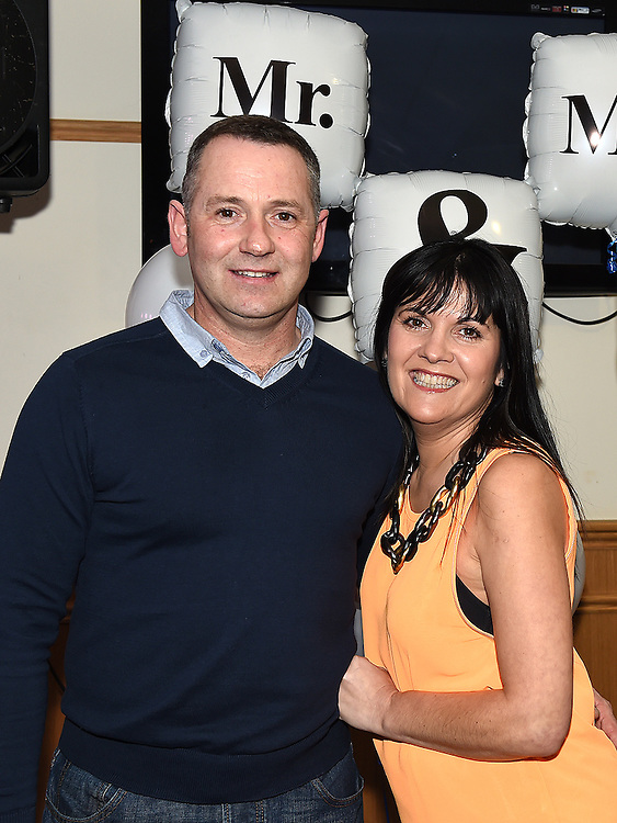 Brian and Karen Scott who took part in the Mr & Mrs competition in St Mary's GFC in Ardee. Photo:Colin Bell/pressphotos.ie