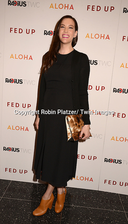 "Liv Tyler attends the New York Premiere of ""FED UP"" on May 6, 2014 at The Museum of Modern Art in New York City."