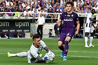 Juan Musso of Udinese Calcio , Federico Chiesa of Fiorentina <br /> Firenze 6-10-2019 Stadio Artemio Franchi <br /> Football Serie A 2019/2020 <br /> ACF Fiorentina - Udinese Calcio <br /> Photo Andrea Staccioli / Insidefoto
