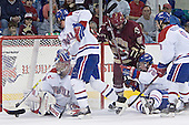 Peter Vetri, Grant Farrell, Benn Ferreiro, Kim Brandvold, Mark Roebothan - The Boston College Eagles defeated the University of Massachusetts-Lowell River Hawks 4-3 in overtime on Saturday, January 28, 2006, at the Paul E. Tsongas Arena in Lowell, Massachusetts.