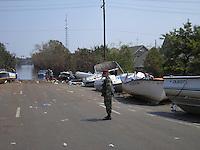 Hurricane Katrina pet resucue in New Orleans.