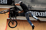 Scotty Cranmer competes in the BMX Freestyle Park finals during X-Games 12 in Los Angeles, California on August 5, 2006.