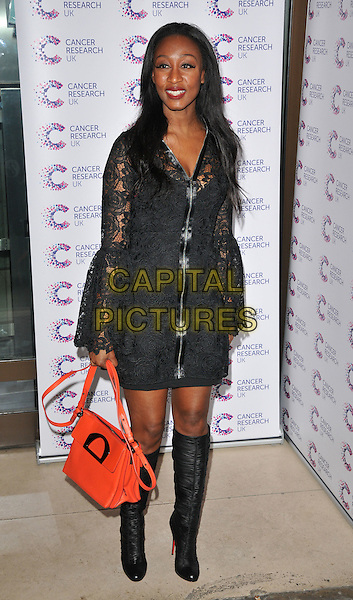 Beverley Knight attends the James Ingham's Jog-On to Cancer Part 4 annual charity party, Kensington Roof Gardens, Kensington High Street, London, UK, on Thursday 07 April 2016.<br /> CAP/CAN<br /> &copy;CAN/Capital Pictures