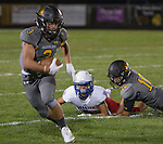 Galena #3 Mateo Lemus gets away from Reno defense and runs down the sideline in their football game played on Friday night Sept. 16, 2016 at Galena High School.