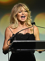 NEW YORK, NY - NOVEMBER 02: Goldie Hawn speaks onstage at the Samsung annual charity gala 2017 at Skylight Clarkson Sq on November 2, 2017 in New York City.  Credit: George Napolitano/MediaPunch /NortePhoto.com
