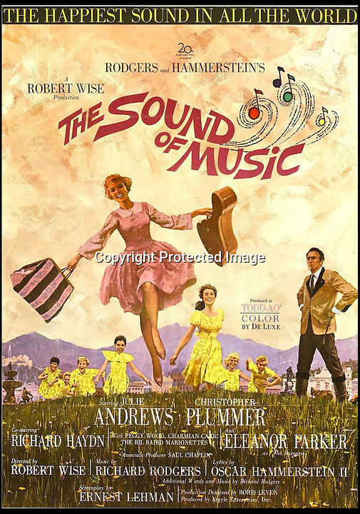 BNPS.co.uk (01202) 558833<br /> <br /> The poster for The Sound of Music.<br /> <br /> A set of iconic costumes worn by singing family the Von Trapps in hit film The Sound of Music has emerged for sale for &pound;150,000.<br /> <br /> The collection includes 14 outfits from the celebrated 1965 musical which starred Brit Julie Andrews as a nun who teaches the children of a widowed Navy officer to sing.<br /> <br /> The highlight of the set is a uniform worn by Christopher Plummer as Captain Georg Von Trapp in famed songs 'So Long, Farewell' and 'Edelweiss'.<br /> <br /> Also included are five of the seven Von Trapp children's outfits from the same numbers and two capes worn by the children in 'Climb Ev'ry Mountain'.