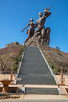 African Renaissance Monument, Dakar, Senegal.  Dedicated April 4, 2010.  Sculptor, Pierre Goudiaby.