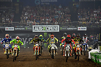 SX2 / starting action<br /> Monster Energy Aus-XOpen<br /> Supercross &amp; FMX International<br /> Qudos Bank Arena, Olympic Park NSW<br /> Sydney AUS Sunday 12  November 2017. <br /> &copy; Sport the library / Jeff Crow
