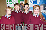 BRAINS TO BURN: The pupils of Coolard NS school taking part in the Chapter 23 of the Irish League of Credit Unions table quiz at the Gleneagle hotel, Killarney on Sunday l-r: Cian Liston, Brian O? Seanacha?in, Cian Mahony and Niamh O'Sullivan.