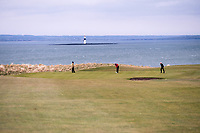 Barry Anderson (The Royal Dublin), Robert Brazill (Naas) during the 3rd round of matchplay at the 2018 West of Ireland, in Co Sligo Golf Club, Rosses Point, Sligo, Co Sligo, Ireland. 02/04/2018.<br /> Picture: Golffile | Fran Caffrey<br /> <br /> <br /> All photo usage must carry mandatory copyright credit (&copy; Golffile | Fran Caffrey)