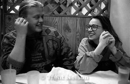 Jason Olson and Ambre Olson at Mi Ranchito<br />