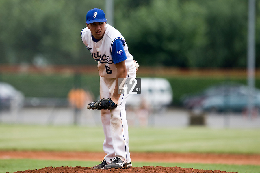 BASEBALL - EUROPEAN UNDER -21 CHAMPIONSHIP - PAMPELUNE (ESP) - 03 TO 07/09/2008 - PHOTO : CHRISTOPHE ELISE.FRANCE VS GERMANY (WINNER 8-6) -.PHILIPPE LECOURIEUX (FRANCE)