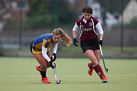 Upminster HC Ladies 2nd XI vs Wapping HC Ladies 3rd XI, Essex Women's League Field Hockey at the Coopers Company and Coborn School on 12th January 2019