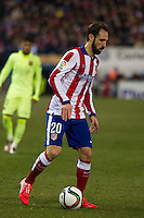 Atletico de Madrid´s Juanfran during 2014-15 Spanish King Cup match between Atletico de Madrid and Barcelona at Vicente Calderon stadium in Madrid, Spain. January 28, 2015. (ALTERPHOTOS/Luis Fernandez) /nortephoto.com<br />
