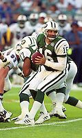Vinnie Testeverde in action as the Jets defeated the Dolphins 20-3 in Miami , FL on November 19, 2000. (Photo by Brian Cleary / www.bcpix.com)