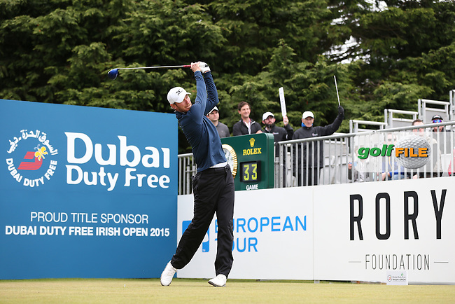 Chris Wood (ENG) begins Round Three of the 2015 Dubai Duty Free Irish Open Hosted by The Rory Foundation at Royal County Down Golf Club, Newcastle County Down, Northern Ireland. 30/05/2015. Picture David Lloyd | www.golffile.ie
