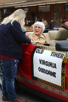 MEGAN DAVIS/MCDONALD COUNTY PRESS Virginia Osborne beams while receiving a plaque, recognizing her as the 2019 Old Timer honoree.
