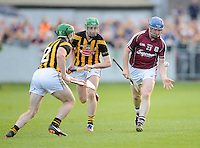 28th June 2014; Galway's Damien Hayes with Paul Murphy and Joey Holden of Kilkenny. GAA Hurling Senior Championship Semi-Final replay Kilkenny v Galway, O'Connor Park, Tullamore. Picture credit: Tommy Grealy/actionshots.ie.
