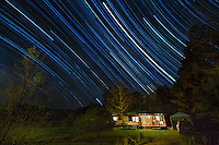 Startrails over Cabin Ouachita National Forest