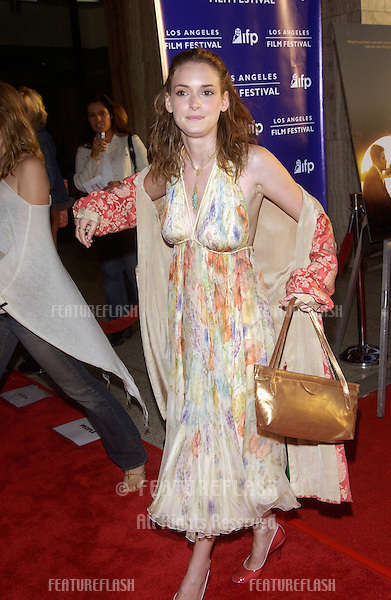 Actress WINONA RYDER at the Los Angeles premiere of Before Sunset..June 23, 2004