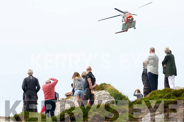 Rescue 115 buzzes spectators at the Derrynane Inshore Open Day on Sunday.