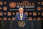 Opening Plenary Meeting of the Nelson Mandela Peace Summit<br /> <br /> His Excellency llir METAPresident of the Republic of Albania