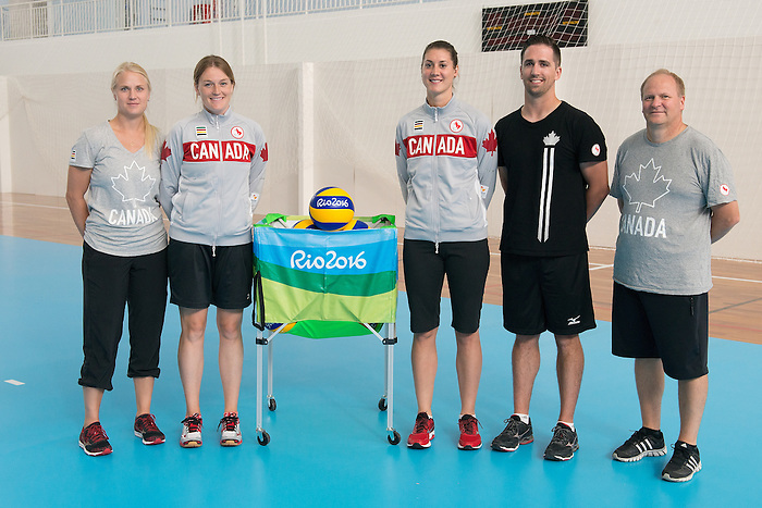 RIO DE JANEIRO - 6/9/2016:  Coaches of Canada's Womens Sitting Volleyball team after a practice match vs Team USA at the Paralympic Village at the Rio 2016 Paralympic Games. (Photo by Matthew Murnaghan/Canadian Paralympic Committee