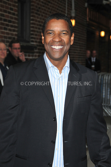 WWW.ACEPIXS.COM . . . . .  ....June 11 2009, New York City....Actor Denzel Washington made an appearance at the 'Late Show with David Letterman' at the Ed Sullivan Theatre on June 11 2009 in New York City....Please byline: AJ Sokalner - ACEPIXS.COM..... *** ***..Ace Pictures, Inc:  ..tel: (212) 243 8787..e-mail: info@acepixs.com..web: http://www.acepixs.com