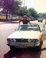 BNPS.co.uk (01202 558833)<br /> Pic: Historics/BNPS<br /> <br /> Rollin' back the years...Gerry in his original Triumph Stag in the mid seventies when he played for QPR.<br /> <br /> A classic sports car belonging to former England international footballer Gerry Francis has emerged for sale for £20,000.<br /> <br /> The 1976 Triumph Stag has been with Francis since 2012 when it was given to him as a surprise gift from his son.<br /> <br /> It is identical to another motor the ex QPR midfielder owned during the height of his playing career in the 1970s.