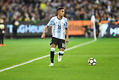 June 9th 2017, Melbourne Cricket Ground, Melbourne, Australia; International Football Friendly; Brazil versus Argentina; Jose Luis Gomez of Argentina running forward with the ball