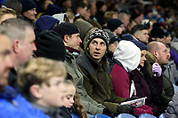 Burnley fans anxiously watch the second half action<br /> <br /> Photographer Rich Linley/CameraSport<br /> <br /> The Premier League - Burnley v Crystal Palace - Saturday 30th November 2019 - Turf Moor - Burnley<br /> <br /> World Copyright © 2019 CameraSport. All rights reserved. 43 Linden Ave. Countesthorpe. Leicester. England. LE8 5PG - Tel: +44 (0) 116 277 4147 - admin@camerasport.com - www.camerasport.com