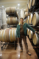 Chris Ruffle poses at winery of Treaty Port Vineyards in Penglai, Shandong province. 06-Nov-2010