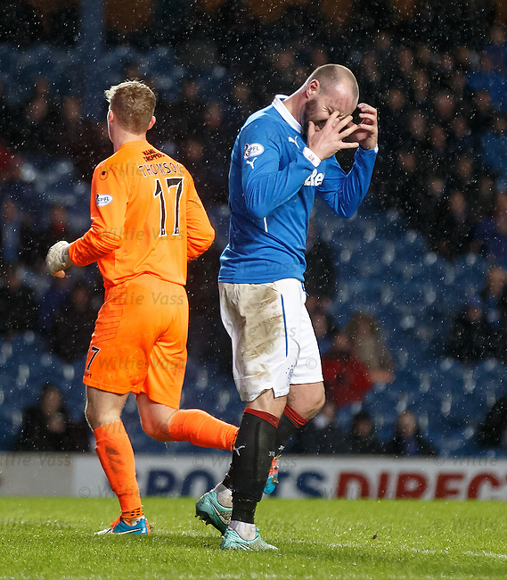 Anguish from Kris Boyd after missing in front of goal