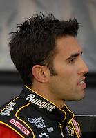 Apr 20, 2007; Avondale, AZ, USA; Nascar Busch Series driver Aric Almirola (19) during the Bashas Supermarkets 200 at Phoenix International Raceway. Mandatory Credit: Mark J. Rebilas