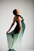 Statuesque pregnant Hispanic woman