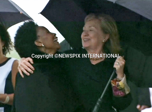 HILARY CLINTON<br /> NELSON MANDELA MEMORIAL<br /> The nation mourns Nelson Rolihlahla Mandela Memorial Service, FNB Stadium, Johannesburg, South Africa<br /> Mandatory Credit Photo: &copy;NEWSPIX INTERNATIONAL<br /> <br /> **ALL FEES PAYABLE TO: &quot;NEWSPIX INTERNATIONAL&quot;**<br /> <br /> IMMEDIATE CONFIRMATION OF USAGE REQUIRED:<br /> Newspix International, 31 Chinnery Hill, Bishop's Stortford, ENGLAND CM23 3PS<br /> Tel:+441279 324672  ; Fax: +441279656877<br /> Mobile:  07775681153<br /> e-mail: info@newspixinternational.co.uk