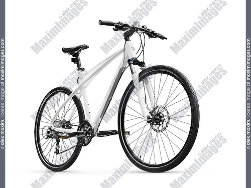 2016 Mercedes-Benz Fitness and Road Bike. Isolated Mercedes Benz bicycle on white background with clipping path.
