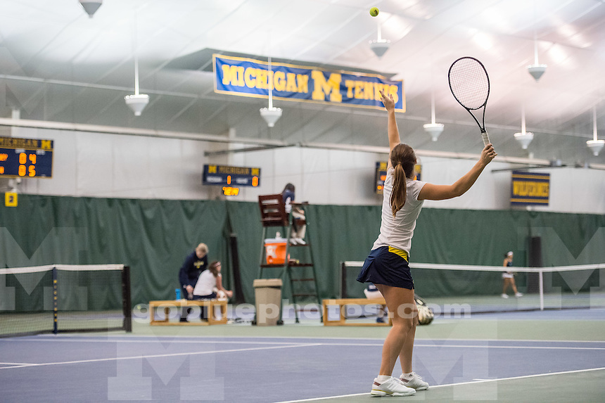 Michigan Women's Tennis defeats Yale 4-0 at the Varsity Tennis Center on Sat., Jan 24, 2015 in Ann Arbor, MI.