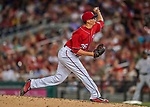 29 July 2017: Washington Nationals pitcher Sammy Solis on the mound against the Colorado Rockies at Nationals Park in Washington, DC. The Rockies defeated the Nationals 4-2 in the first game of their 3-game weekend series. Mandatory Credit: Ed Wolfstein Photo *** RAW (NEF) Image File Available ***