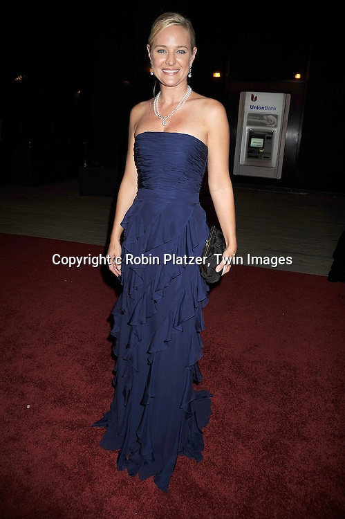 Sharon Case in Badgley Mishka dress