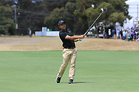 C.T. Pan (International) on the 16th during the First Round - Four Ball of the Presidents Cup 2019, Royal Melbourne Golf Club, Melbourne, Victoria, Australia. 12/12/2019.<br /> Picture Thos Caffrey / Golffile.ie<br /> <br /> All photo usage must carry mandatory copyright credit (© Golffile | Thos Caffrey)