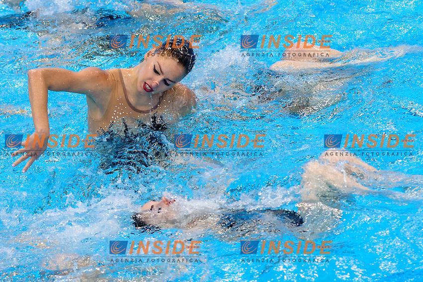 GREECE GRE <br /> ARMAOU Maria Eleni DIPLA Ifigeneia FARANTOURI Valentina GKEORGKIEVA Giana KOFIDI Vasiliki <br /> KOUTIDI Evangelia PAPAZOGLOU Evangelia PLATANIOTI Evangelia SARANTIDI Sofia TAXOPOULOU Anna Maria <br /> Free Combination Final <br /> London, Queen Elizabeth II Olympic Park Pool <br /> LEN 2016 European Aquatics Elite Championships <br /> Synchronized Swimming <br /> Day 04 12-05-2016<br /> Photo Andrea Staccioli/Deepbluemedia/Insidefoto