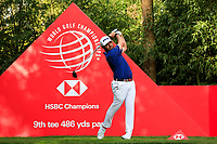 Louis Oosthuizen (RSA) on the 9th tee during round 1 at the WGC HSBC Champions, Sheshan Golf Club, Shanghai, China. 31/10/2019.<br /> Picture Fran Caffrey / Golffile.ie<br /> <br /> All photo usage must carry mandatory copyright credit (© Golffile | Fran Caffrey)