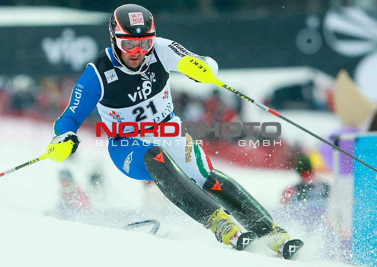 06.01.2011., Sljeme, Zagreb, Croatia - FIS Ski World Cup, Snow Queen Trophy, men slalom race, 1st run.<br /> Cristian Deville.<br />                                                                                                   Foto:   nph / PIXSELL