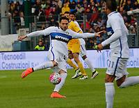 Danilo D'Ambrosio  during the  italian serie a soccer match,between Frosinone and Inter      at  the Matusa   stadium in Frosinone  Italy , April 09, 2016
