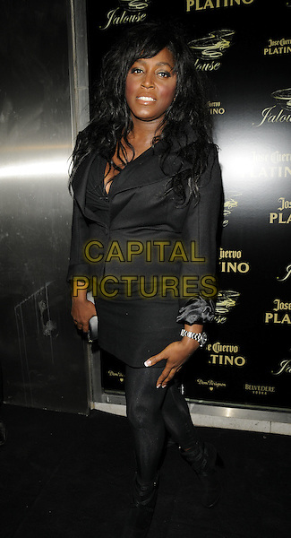 MICA PARIS.The Jalouse club launch, Jalouse nightclub, Hanover Square, London, England..October 8th, 2008.full length black jacket skirt tights.CAP/CAN.©Can Nguyen/Capital Pictures.